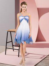 Sleeveless Beading Lace Up Dress for Prom