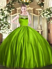 Fantastic Sleeveless Satin Floor Length Zipper Quinceanera Gowns in with Beading
