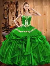 Floor Length Ball Gowns Sleeveless Sweet 16 Dresses Lace Up