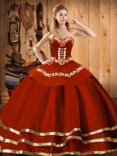 Stylish Sleeveless Embroidery Lace Up Quinceanera Gown