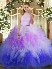 Elegant Floor Length Ball Gowns Sleeveless Multi-color Quinceanera Dress Backless