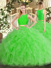 Comfortable Sleeveless Tulle Zipper Sweet 16 Dresses for Military Ball and Sweet 16 and Quinceanera