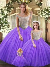 Modern Floor Length Ball Gowns Sleeveless Eggplant Purple Ball Gown Prom Dress Lace Up