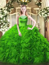 Floor Length Side Zipper Quince Ball Gowns for Sweet 16 and Quinceanera with Beading