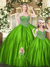 Traditional Sleeveless Beading Lace Up Quinceanera Gowns