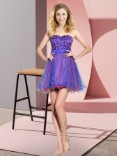 Sweet Multi-color Sleeveless Beading and Sequins Mini Length Dama Dress for Quinceanera