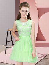 New Style Sleeveless Lace Mini Length Vestidos de Damas