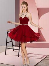 Discount Halter Top Sleeveless Chiffon Prom Evening Gown Beading Zipper