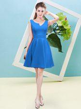 Baby Blue Asymmetric Zipper Ruching Quinceanera Court Dresses Sleeveless