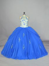 Best Sleeveless Appliques and Embroidery Lace Up Sweet 16 Dress