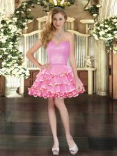 Beautiful Sleeveless Ruffled Layers Lace Up Prom Party Dress