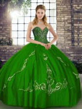 Dynamic Floor Length Green Quinceanera Dress Sweetheart Sleeveless Lace Up