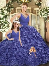 Ball Gowns Sleeveless Lavender 15th Birthday Dress Brush Train Backless