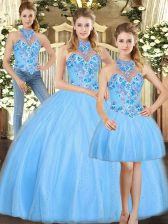 Adorable Sleeveless Embroidery Lace Up Quinceanera Dresses