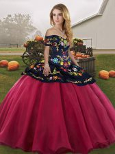 Fashionable Sleeveless Embroidery Lace Up Vestidos de Quinceanera