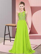 Unique Sleeveless Beading Side Zipper Dress for Prom