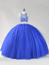 Adorable Sleeveless Backless Floor Length Beading Ball Gown Prom Dress