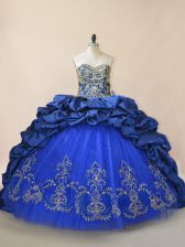 Sleeveless Brush Train Lace Up Beading 15 Quinceanera Dress