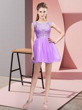 Edgy Sleeveless Beading Zipper Prom Dresses
