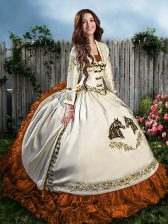 Best Sleeveless Lace Up Floor Length Beading and Embroidery Quinceanera Gowns