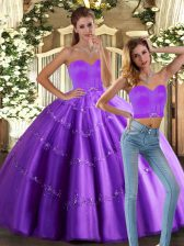 Delicate Tulle Sleeveless Floor Length Vestidos de Quinceanera and Beading