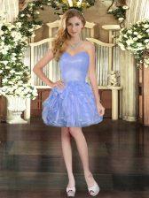 Organza Sleeveless Mini Length Homecoming Dress and Ruffles