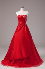 Custom Fit Wine Red Sleeveless Beading and Embroidery Floor Length Ball Gown Prom Dress
