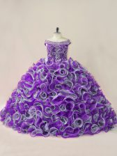 Ball Gowns Sleeveless Multi-color Quinceanera Gowns Lace Up