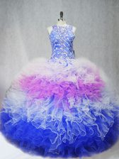 Top Selling Zipper 15th Birthday Dress Multi-color for Sweet 16 and Quinceanera with Beading and Ruffles