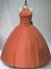 High Class Floor Length Ball Gowns Sleeveless Brown Quinceanera Dresses Lace Up