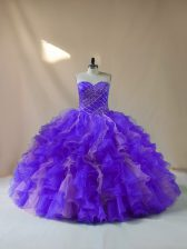 Multi-color 15th Birthday Dress Sweet 16 and Quinceanera with Beading and Ruffles Halter Top Sleeveless Lace Up
