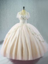 Classical Pink Sweetheart Neckline Beading 15th Birthday Dress Sleeveless Lace Up