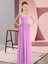 Sleeveless Zipper Floor Length Beading Prom Evening Gown