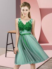 Cheap Sleeveless Appliques Lace Up Damas Dress
