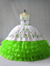 Ball Gowns 15 Quinceanera Dress Sweetheart Satin and Organza Sleeveless Floor Length Lace Up
