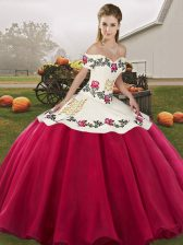 Hot Selling Sleeveless Embroidery Lace Up Sweet 16 Dresses