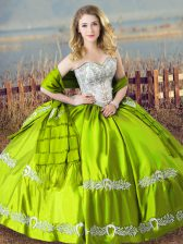 Custom Designed Sleeveless Lace Up Floor Length Beading and Embroidery Quinceanera Dresses