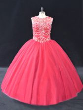 Unique Long Sleeves Beading Lace Up 15th Birthday Dress