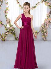 Captivating Sleeveless Belt Lace Up Quinceanera Dama Dress