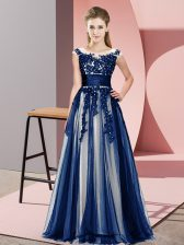 Low Price Navy Blue Court Dresses for Sweet 16 Wedding Party with Beading and Lace Scoop Sleeveless Zipper