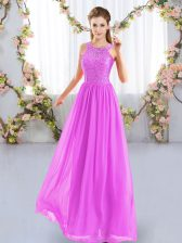 Sleeveless Zipper Floor Length Lace Quinceanera Court Dresses