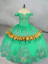 Sleeveless Embroidery Zipper Sweet 16 Quinceanera Dress