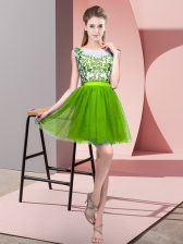 Sleeveless Mini Length Lace Zipper Court Dresses for Sweet 16 with
