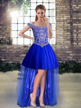 Inexpensive Sleeveless Beading Lace Up Prom Dress