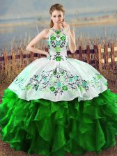 Sleeveless Organza Lace Up 15 Quinceanera Dress for Sweet 16 and Quinceanera