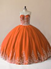 Spectacular Sleeveless Lace Up Floor Length Embroidery Sweet 16 Quinceanera Dress