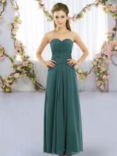 Sleeveless Ruching Lace Up Court Dresses for Sweet 16