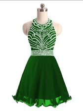 Best Selling Mini Length A-line Sleeveless Green Lace Up