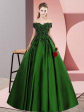 Sweet Off The Shoulder Sleeveless Satin 15th Birthday Dress Lace Zipper