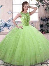 Romantic Sleeveless Beading Lace Up Quinceanera Dress